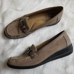 Naturalizer Natural Soul Suede Loafer Womens Sz 10